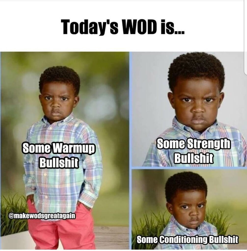 Workout of the day meme