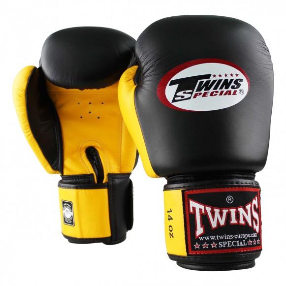 Twins bokshandschoen bgvl 3 zwart/geel