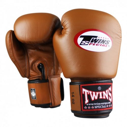 Twins bokshandschoen retro bruin