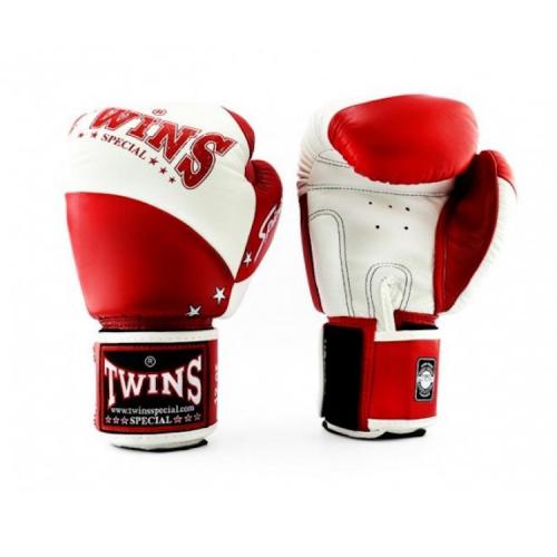 Twins bokshandschoen retro rood